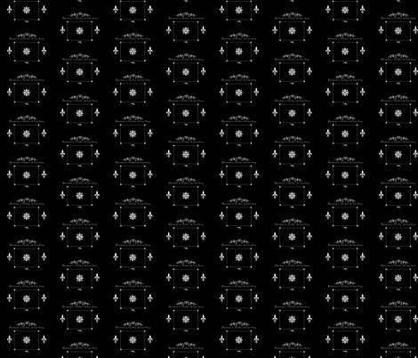 Chateau -B/W HD Repeat fabric by paragonstudios on Spoonflower - custom fabric