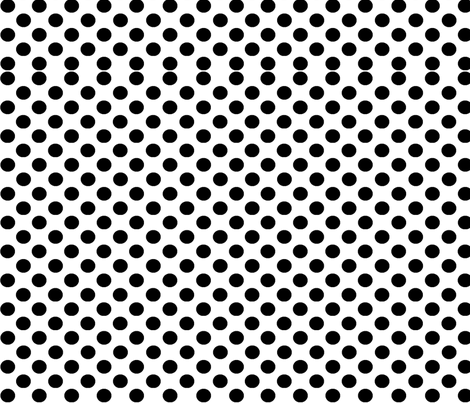 black dots on white background fabric by lyndsey2360 on Spoonflower - custom fabric