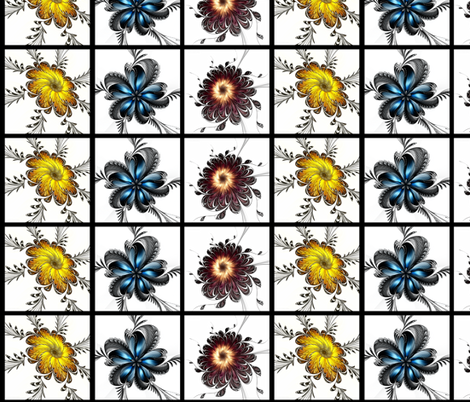 The Emperor's Garden fabric by winter on Spoonflower - custom fabric