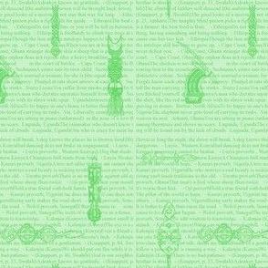 African Proverbs-Light Green-180