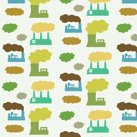 little factories fabric by lauredesigns on Spoonflower - custom fabric
