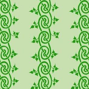 celtic ivy border green