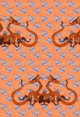 Orange Chinese Dragons
