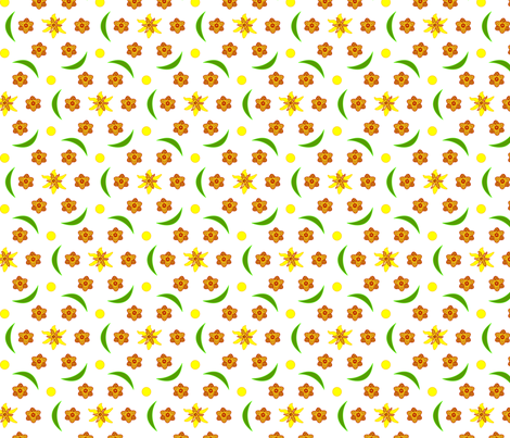 Daffodilly fabric by andrea11 on Spoonflower - custom fabric