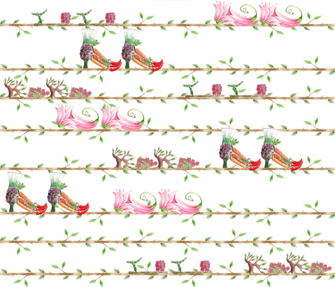 arbre à chaussures fabric by nadja_petremand on Spoonflower - custom fabric