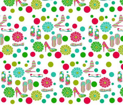 Girls Love Shoes fabric by printablecrush on Spoonflower - custom fabric