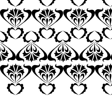black and white no. 04 fabric by eva_krasilni_razbor on Spoonflower - custom fabric