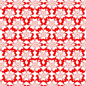 red and white floral design no. 01