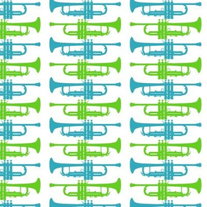 Blue and Green Trumpets