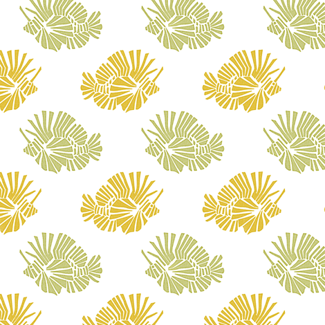 Lionfish Party Sunshine fabric by kristopherk on Spoonflower - custom fabric