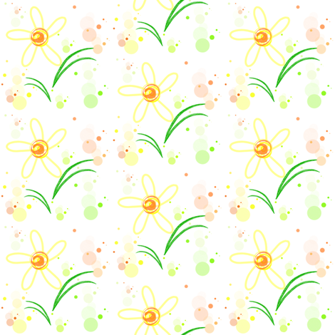 Garden Sunshine -  © PinkSodaPop 4ComputerHeaven.com fabric by pinksodapop on Spoonflower - custom fabric