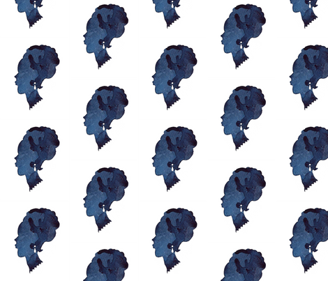 C'EST LA VIV™ CAMEO Collection_PEARL EARING  fabric by cest_la_viv on Spoonflower - custom fabric