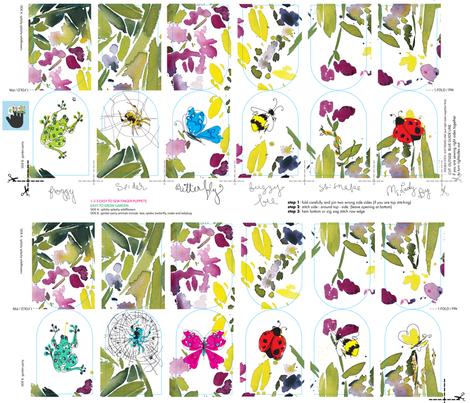 C'EST LA VIV Garden Party new fabric by cest_la_viv on Spoonflower - custom fabric