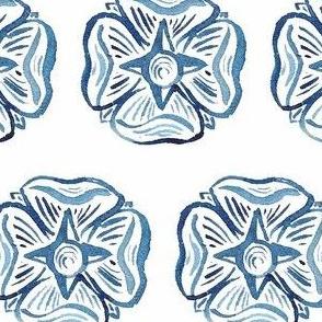 C'EST LA VIV Circles and Squares Collection_BLUE ROSETTE