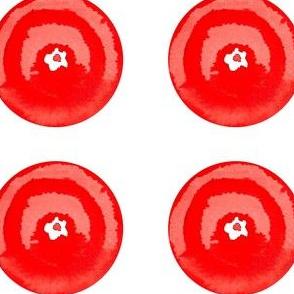 C'EST LA VIV™ Circles and Squares Collection_RED ROSETTE
