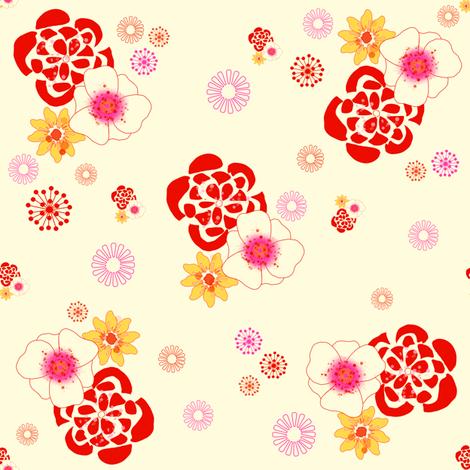 Sunshine Garden - © PinkSodaPop 4ComputerHeaven.com fabric by pinksodapop on Spoonflower - custom fabric