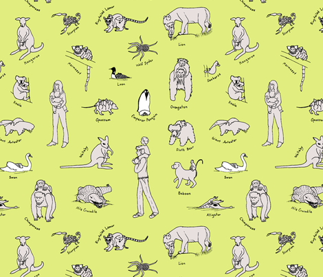 baby_carriers_rework_boba_green_background fabric by victorialasher on Spoonflower - custom fabric