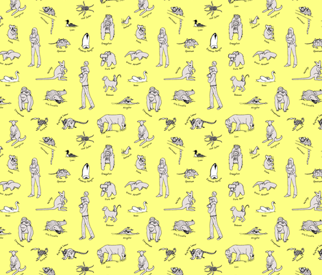 baby_carriers_rework_yellow_background fabric by victorialasher on Spoonflower - custom fabric