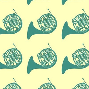 Teal French Horns