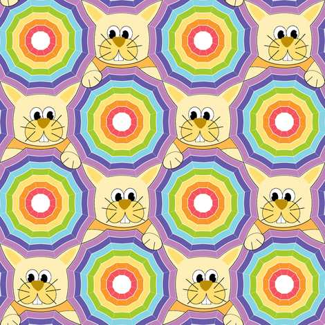 My Rainbow Umbrella fabric by inscribed_here on Spoonflower - custom fabric