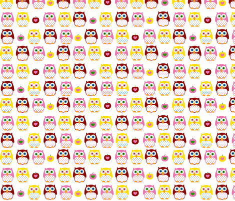 summer owls-ch-ch fabric by katharinahirsch on Spoonflower - custom fabric