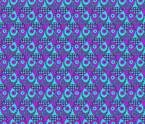 yin yang fish tessellation fabric by uzumakijo on Spoonflower - custom fabric