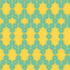 two-colour lace net
