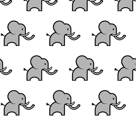 Cute Elephant fabric by mandollyn on Spoonflower - custom fabric