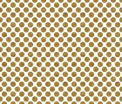 Glitter Dot Gold fabric by cynthiafrenette on Spoonflower - custom fabric