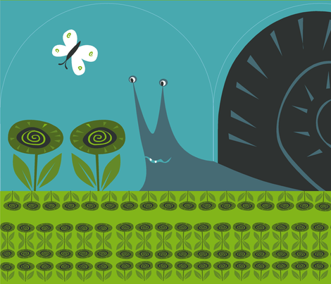 snail_tea_cozy fabric by antoniamanda on Spoonflower - custom fabric