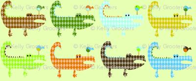 Argyle Alligators - rough colorway XL
