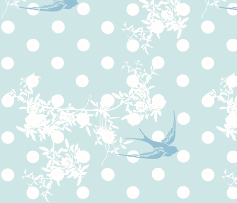 bluebird of happiness fabric by purelydecorative on Spoonflower - custom fabric