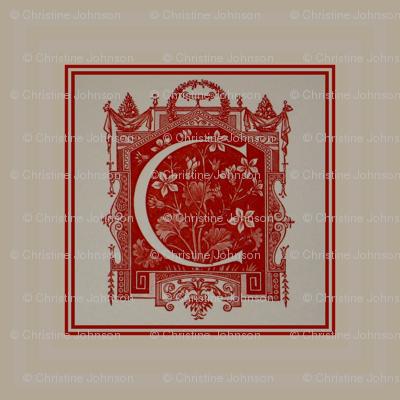 RED Crest  Diner napkins-