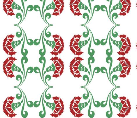 vintage carnations no.01  fabric by eva_krasilni_razbor on Spoonflower - custom fabric