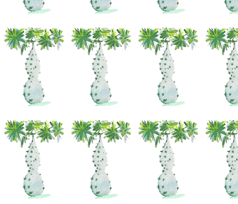 C'EST LA VIV CUTE CACTUS  fabric by @vivsbeautifulmess on Spoonflower - custom fabric
