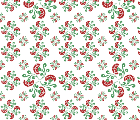 bouquets of carnations no.01  fabric by eva_krasilni_razbor on Spoonflower - custom fabric