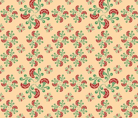 bouquets of carnations no.02 fabric by eva_krasilni_razbor on Spoonflower - custom fabric