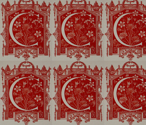 RED Crest Basic repeat fabric by paragonstudios on Spoonflower - custom fabric