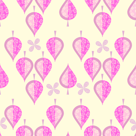 Pretty Floral Leaves! -  © PinkSodaPop 4ComputerHeaven.com fabric by pinksodapop on Spoonflower - custom fabric