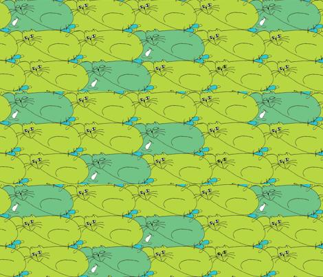kot_mysz fabric by a_m on Spoonflower - custom fabric