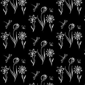 Flower_Garden_BW