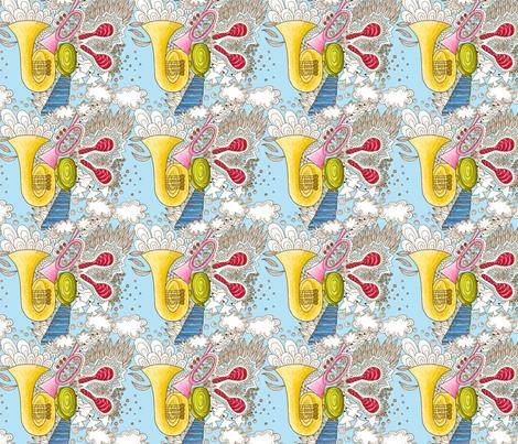 musique celeste s fabric by nadja_petremand on Spoonflower - custom fabric