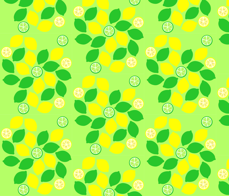 lemon-lime2 fabric by rose'n'thorn on Spoonflower - custom fabric
