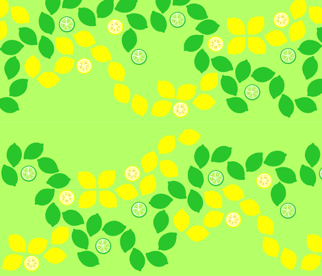 lemon-lime fabric by rose'n'thorn on Spoonflower - custom fabric