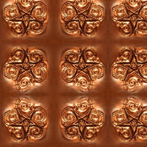 copper star tile