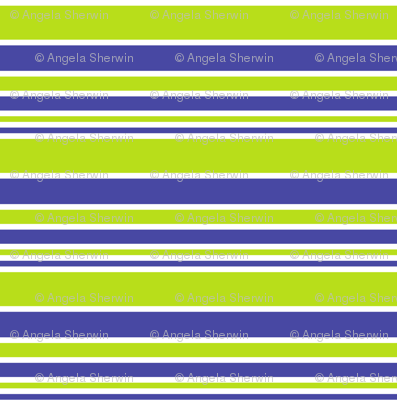 Stripes in blue and green