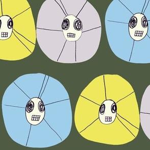 line of skullflowers