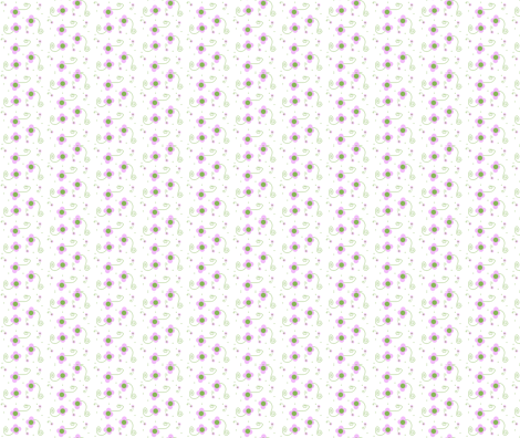 Polka Dot Petals-- Pink fabric by winter on Spoonflower - custom fabric