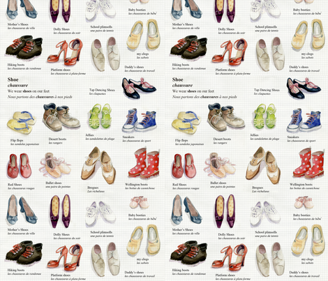 shoes fabric by daniellehanson on Spoonflower - custom fabric