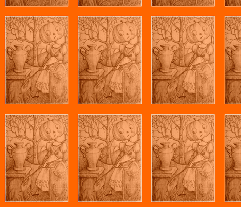 Clara and the Urn fabric by disgusted_cats on Spoonflower - custom fabric
